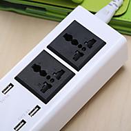 Wielofunkcyjny dodatkowy bezpieczny adapter usb Bezpieczne USB plug-in z wtyczką gniazda zasilania 2 gniazda i 4 porty USB