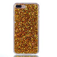 Etui til apple iphone 7 plus 7 telefon cover akryl misfarvet flash pulver telefon taske 6s plus 6 plus 6s 6 5s 5 se
