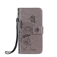 Taske til Sony Xperia xz x kompakt cover til kuffert kortholder med stativ flip præget fuld krops taske sommerfugl blomst hårdt pu læder