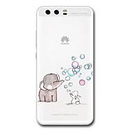 Huawei p10 plus p10 kotelo läpinäkyvä kuvio takakannen tapaus sarjakuva elefantti soft tpu for huawei p9 p9 lite p9 plus p8 lite p8