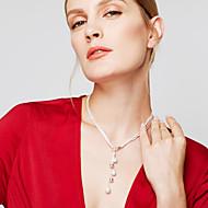 Dame Kædehalskæde Y-Halskæder Y-formet Bold Sølv Mode Lang Længde Personaliseret Sølv Smykker For Fest Halloween Daglig Afslappet 1 Stk.