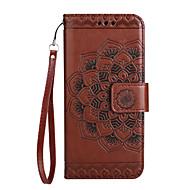 Hoesje voor Samsung Galaxy a3 (2017) a5 (2017) hoesje kaarthouder portemonnee flip patroon telefoon hoesje mandala flower pu leer voor