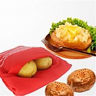 Φούρνο μικροκυμάτων φούρνου κόκκινη τσάντα πατάτας για γρήγορη γρήγορη σε μόλις 4 λεπτά πακέτο πατάτας