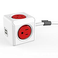 Mini wandcontactdoos handige dual usb poorten stopcontacten power cube aansluiting met 2 usb poorten en 4 outlets us plug