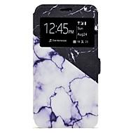 Voor Hoesje cover Kaarthouder met standaard Patroon Volledige behuizing hoesje Marmer Hard PU-leer voor Samsung A3 (2017) A5 (2017)