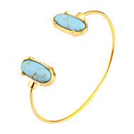 Dame Manchetarmbånd Smykker Mode Movie smykker Hypoallergenisk Guldbelagt Rustfrit Stål Legering Oval form Smykker TilFest & Aften