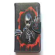 Case For Samsung Galaxy S6 edge Case Cover Card Holder Wallet with Stand Flip Pattern Full Body Case Skull Hard PU Leather