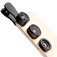 LIGQI F-516 Linsefilm Fiskeøje Lygtvinkel Lins Makro Linser Aluminium 10x Mobiltelefon Kameralinser Kit til Samsung Android-smartphones