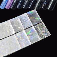 8 Adesivos para Manicure Artística Purpurina Efeito 3D Artigos DIY maquiagem Cosméticos Designs para Manicure