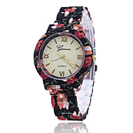 Xu™ 아가씨들 패션 시계 캐쥬얼 시계 석영 Plastic 밴드 꽃패턴 멀티컬러