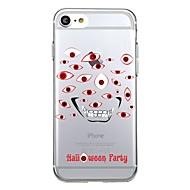 Til iphone 7plus kabinet cover gennemsigtigt mønster bagcover cover geometrisk mønster halloween soft tpu til iphone 7 6splus 6plus 6s 6 5