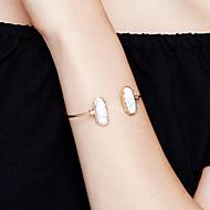 Dames Cuff armbanden Sieraden Modieus Movie Jewelry Hypoallergeen Verguld Roestvrijstaal Legering Ovalen vorm Sieraden VoorFeest/Avond
