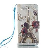Slučaj za Apple iPod touch 5 touch 6 držač kartica držač novčanik s postoljem flip uzorak puni tijelo slučaju Eiffel toranj tvrdo koža