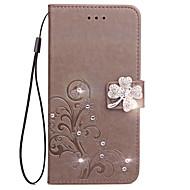Taske til Sony Xperia XZ L1 Veske Kort Holder Tegnebog Rhinestone med Stand Flip præget Hele Body Case Blomst Hard Pu Læder til Xperia x