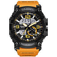 Hombre Reloj Deportivo Reloj de Moda Reloj digital Reloj de Pulsera Digital LED Resistente al Agua Dos Husos Horarios alarma Caucho Banda