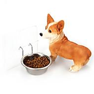 Koira Kulhot ja vesipullot Lemmikit Kupit ja ruokinta Kannettava Hopea Stainless Steel