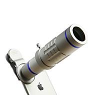 Hd telefonos lencse készlet 18x zoom teleobjektív 0.45x széles látószög 15x szuper macró lencse iphone-okhoz samsung okostelefonok klip