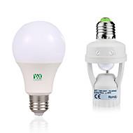 12W LED Λάμπες Σφαίρα 24 SMD 2835 1050-1250 lm Θερμό Λευκό Άσπρο Διακοσμητικό Ανιχνευτής ανθρώπινου σώματος V 1 σετ E27