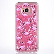 Kotelo samsung galaxy s8 plus s8 kotelon suojus flamingo kuvio virtaava neste glitter pehmeä tpu materia puhelimen kotelo s7 reuna s7