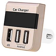 Opladerkit Andre 3 USB-porte Kun oplader DC 12V/2.1A