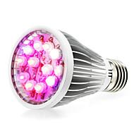 12w e27 / e14 / GU10 doprowadziły rosną światła 12 wysokiej mocy LED (8red 2BLUE 1white 1uV) 290-330lm ac 85-265 V 1 szt