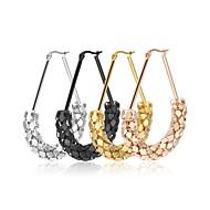 Női Francia kapcsos fülbevalók Ékszerek jelmez ékszerek Divat Rozsdamentes acél Oval Shape Triangle Shape Ékszerek Kompatibilitás Esküvő