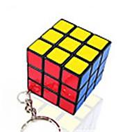 Rubik kocka Sima Speed Cube Sima matrica Rubik-kocka Kulcstartó Műanyagok