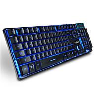 Ruyiniao metal gaming οπίσθιου φωτισμού πληκτρολόγιο 104 κλειδιά usb καλώδιο 3 χρώματα