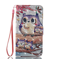hordtáska kártyatartó pénztárca állvánnyal flip minta teljes karosszéria tok owl kemény pu bőr Samsung samsung galaxis a3 (2017) a5 (2017)