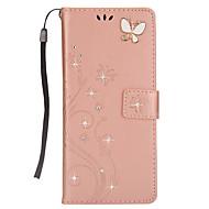 kotelon kannessa kortin haltija lompakko tekojalokivi stand flip magneettinen kuvio koko kehon tapauksessa perhonen kova PU nahka samsung