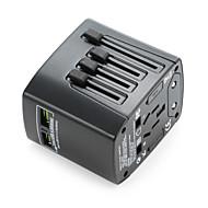 Universal Travel Adapter 4.8a 2 USB-ladere porter over hele verden, alt i en universell strømforsyningsvegglader