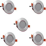 5pcs 3w 300lm led downlights 램프 3000k / 4000k / 6500k led 램프 가정 및 사무실 ac85-265v