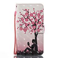 voor case cover kaarthouder portemonnee met tribune flip patroon volledige body case sexy dame boom hard pu leer voor Samsung Galaxy J7