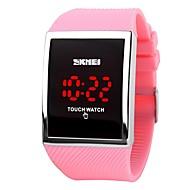 la manera caliente de la promoción de la venta del skmei llevó el reloj para los relojes digitales de la pantalla táctil de las mujeres de
