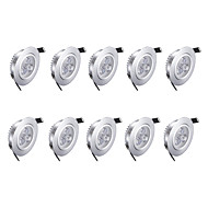 3w led downlights 따뜻한 흰색 10 pc 85-265v