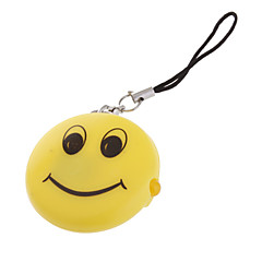 smiley vorm led sleutelhanger zaklamp