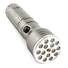 FX 15+1 LED Flashlight 3XAAA Mid-button Switch  3-mode