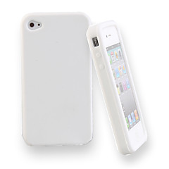 Silicone Protective Case for iPhone4 (White)