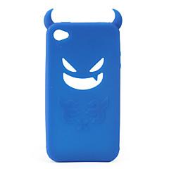 devil beschermende silicagel geval voor iPhone4 - blauw
