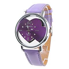 des femmes et des filles de montres analogiques à quartz (violet)