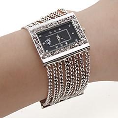Mulheres Relógio de Moda Bracele Relógio Quartzo Lega Banda Brilhante Elegantes Prata marca