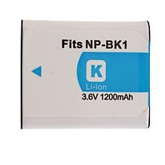 1200mAh 3.7V digitalkamera batteri NP-BK1 for SONY DSC-S750 og mer