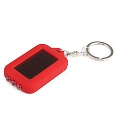aurinkoenergialla valkoinen valo led ja uv 3-LED-avaimenperä taskulamppu (punainen)