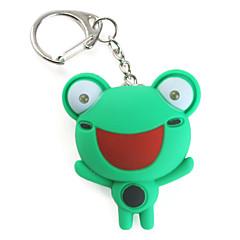 žába klíčenka s LED svítilna a zvukovými efekty (náhodné barvy)