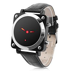 男女兼用 多機能 PU LED 腕時計(ブラック)