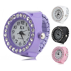 felgi analogowy zegarek damski pierścionek z diamentem (różne kolory)