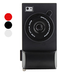 Protective Camera Style Silicone Case for iPhone 4 and 4S (Assorted Colors)