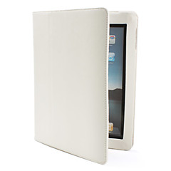 Protective PU Leather Case & Stand for & iPad 2 (Auto Sleep, White)