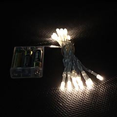 2m 20-led warmweißes Licht 2-Mode-LED-String-Märchen Lampe für Weihnachten (3xAA)