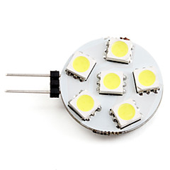 2W G4 LED Spotlight 6 SMD 5050 130 lm Natural White DC 12 V